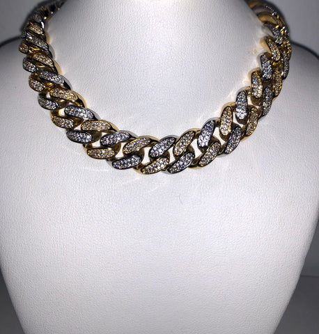 Silver / Gold Cuban Link chain