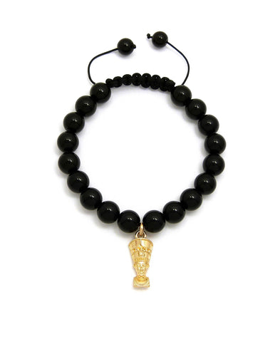 Black Bead Bracelet (Nefertiti)