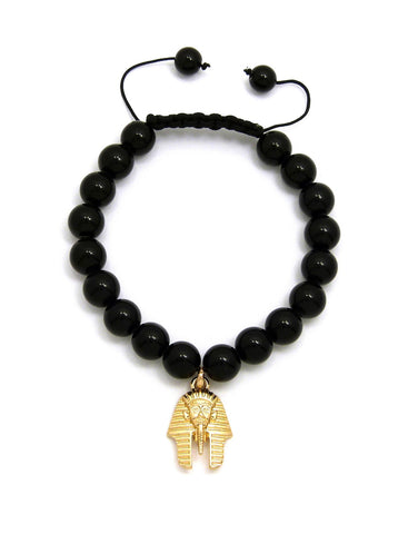 Black Bead Bracelet (King Tut)