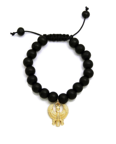 Black Bead Bracelet (Bird)