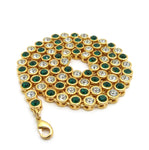 Sunflower Chain (Green Stones)