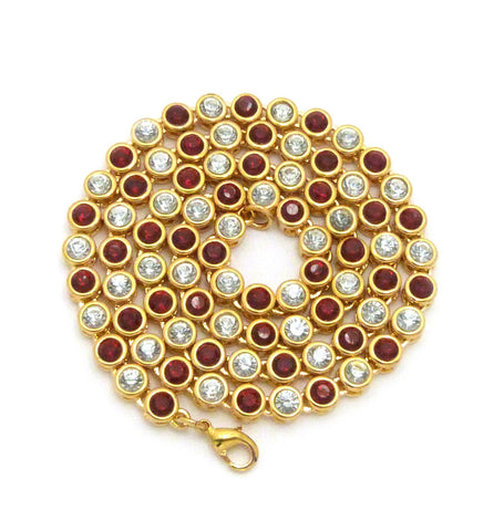 Sunflower Chain (Red Stones)
