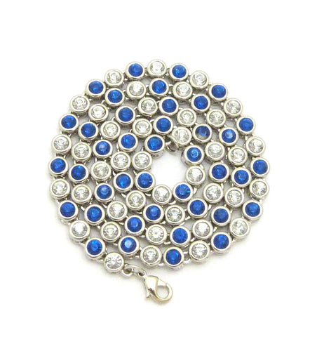 Sunflower Chain (Blue Stones)