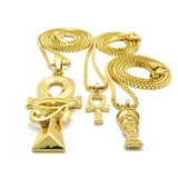 Eye of Horus Ankh / Mini Ankh / Mini Nefertiti Set