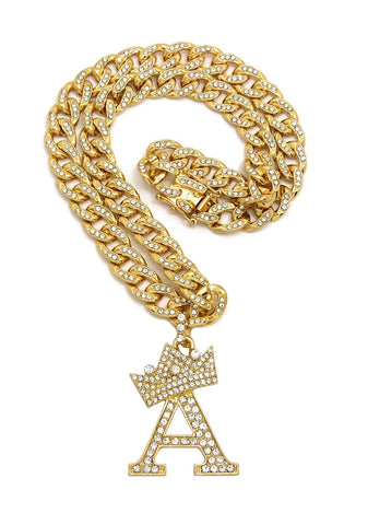 Crown Letter on Bling C Link (Gold)