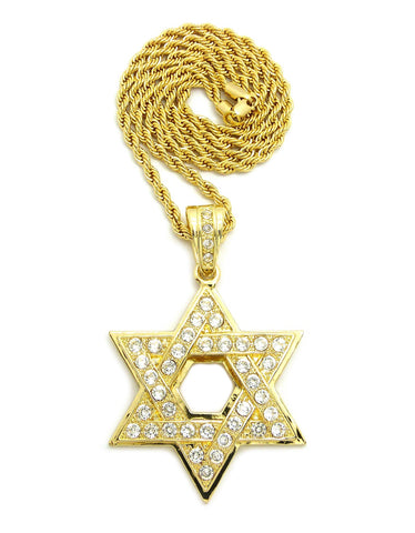 Star of David on Rope Chain