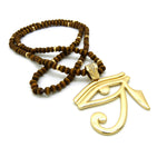 Eye of Horus on Brown Beads