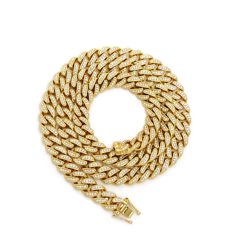 12mm Bling Cuban Link Chain