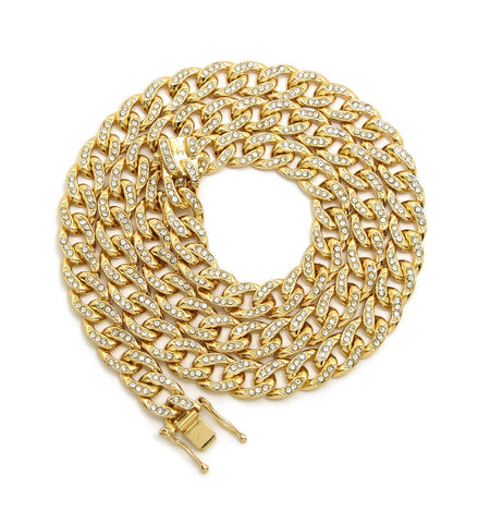 10mm Bling Cuban Link Chain