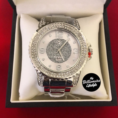 Silver Bling Bezel Watch in Gift Box
