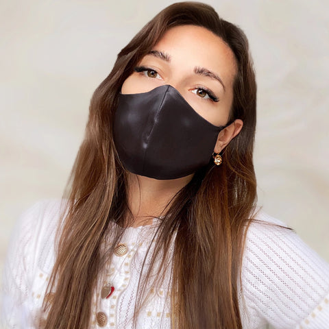 100% Mulberry Silk Mask with 5 Layer Antimicrobial Carbon Filter