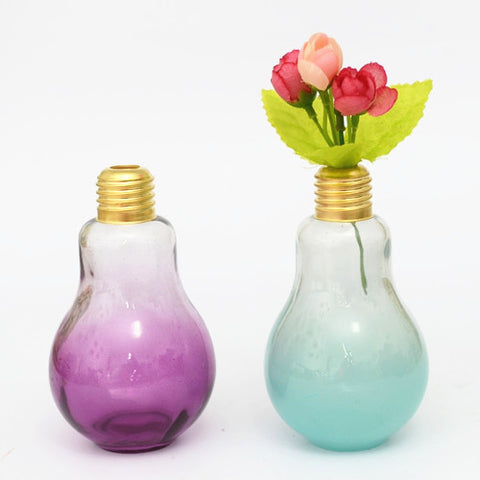 Glass Light Bulb Vase Cherry2berry