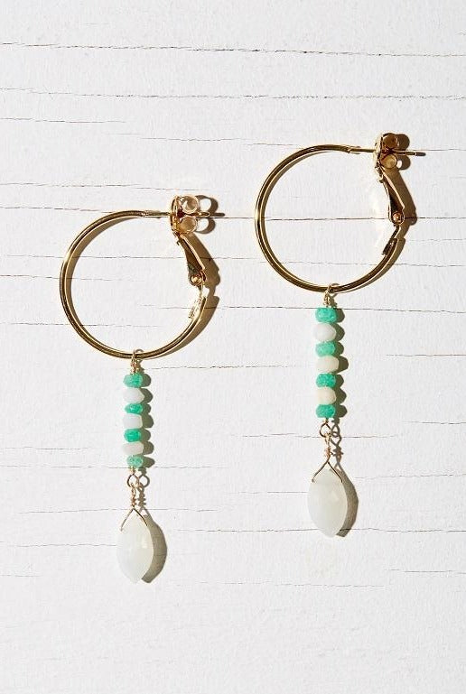 VINCA HOOP EARRINGS