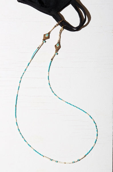 DORJE MASK CHAIN & NECKLACE W/ TURQUOISE