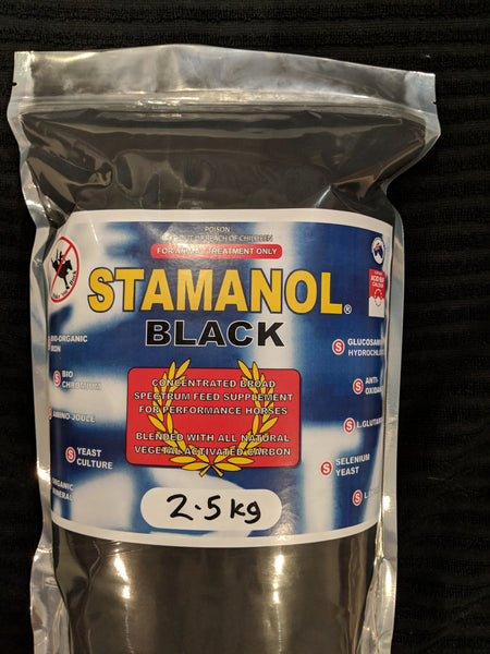 STAMANOL BLACK 2.5kg, 4.9kg and 2 x 4.9kg bag pack (inc Aust Post shipping)