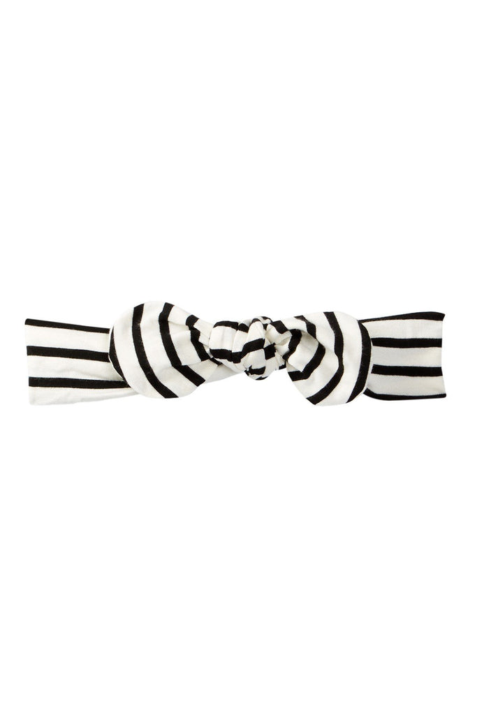 Ivory Striped Knotted Headband