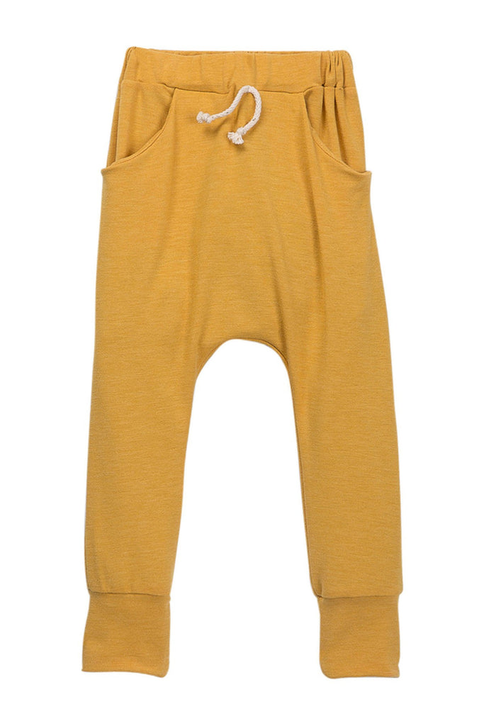 Mustard Pocket French Terry Jogger Pants