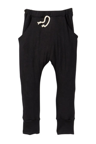 Black Pocket French Terry Jogger Pants