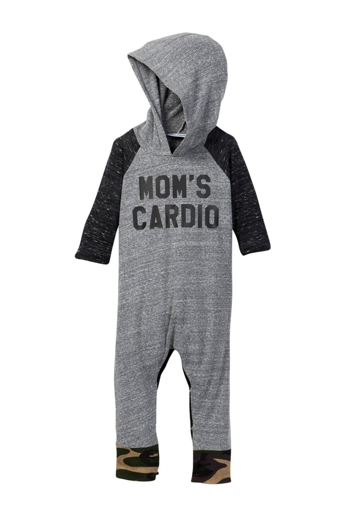 Hooded Mom's Cardio Raglan Romper