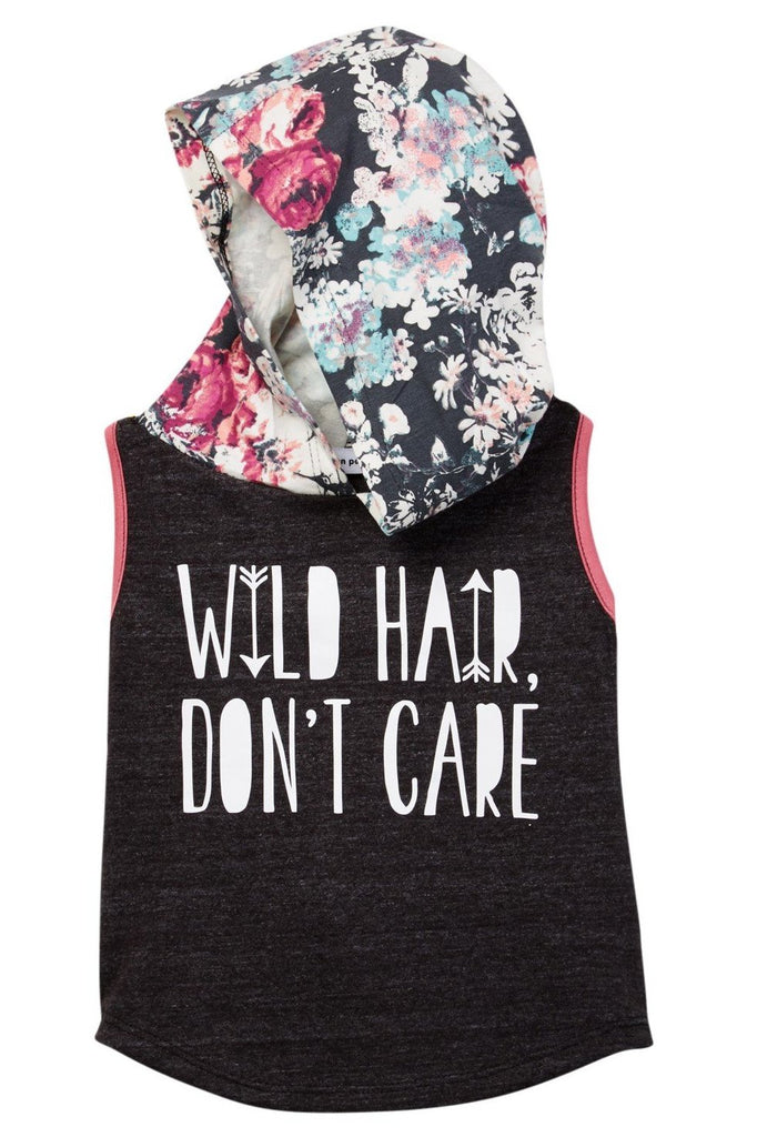 Wild Hair Don't Care Hooded Tank Top