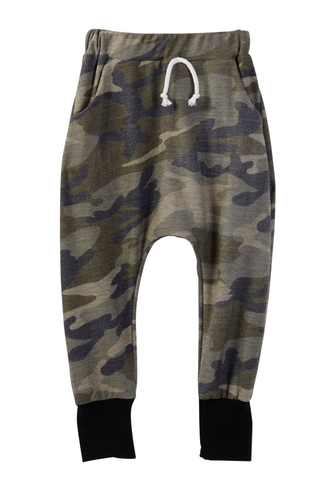 Camo Print French Terry Jogger Pants
