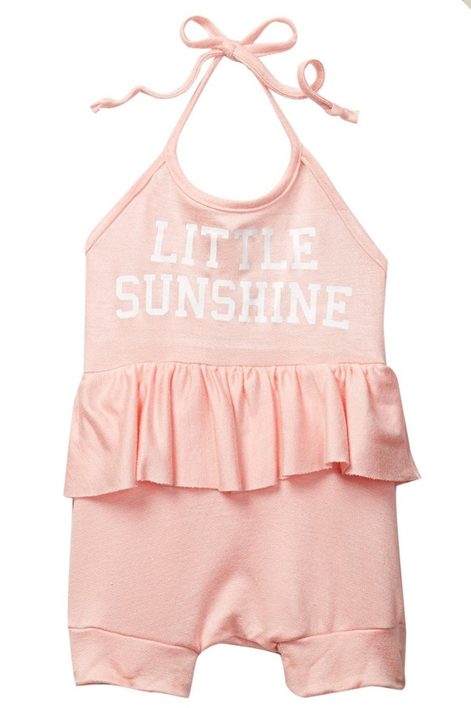 Little Sunshine Pink Millie Halter Romper (runs 1 size smaller)