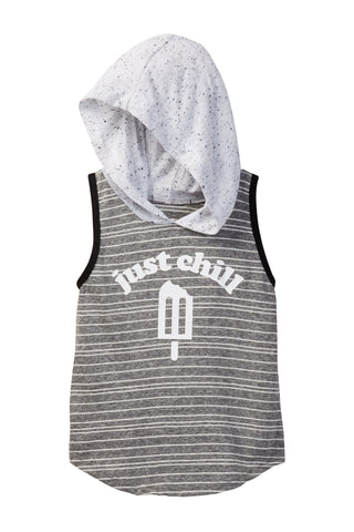 Just Chill Hooded Tank Tee