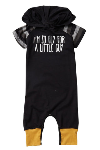 I'm So Fly for a Little Guy Short Sleeve Romper