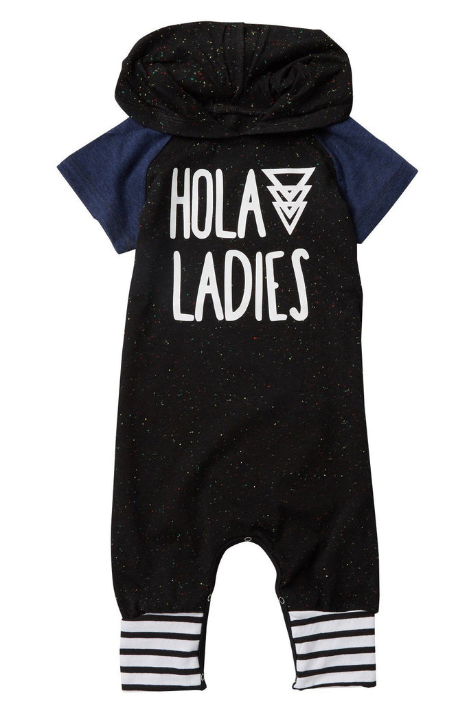 hola ladies hooded romper by million polkadots