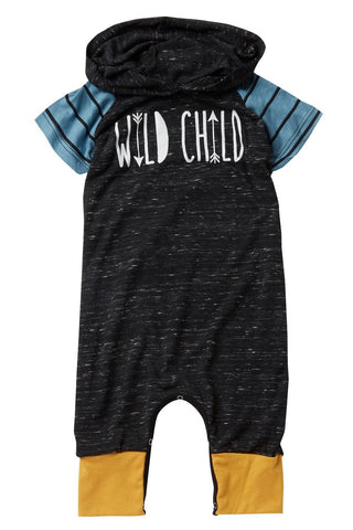 wild child hooded romper by million polkadots