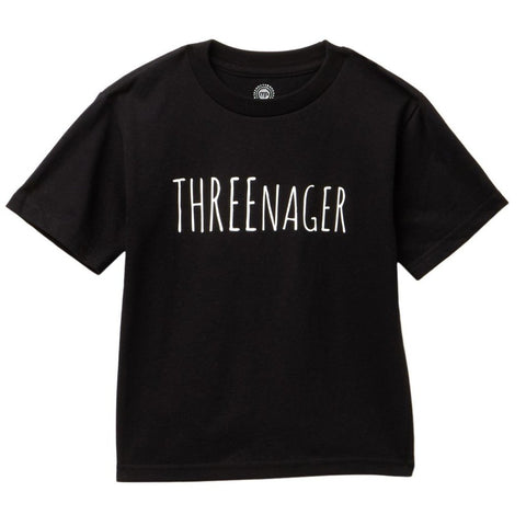 Threenager kids tee