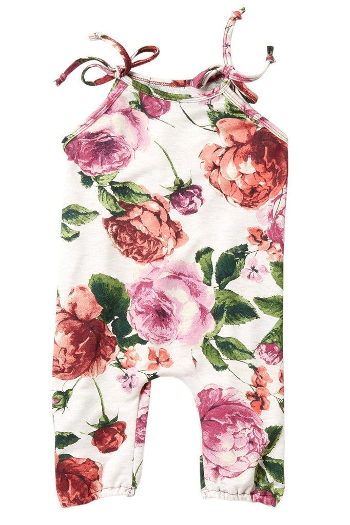 Fall Floral French Terry Jumpsuit