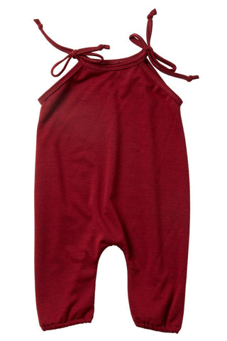 Red Maple French Terry Jumpsuit
