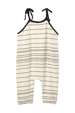 Ivory Intermittent Stripes Jumpsuit