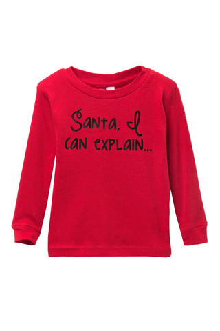 Santa, I can Explain Red Pajama Top