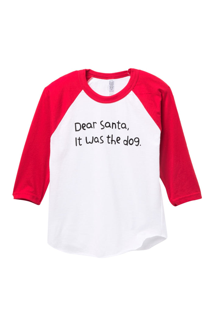 Dear Santa, It was the Dog Raglan Tee