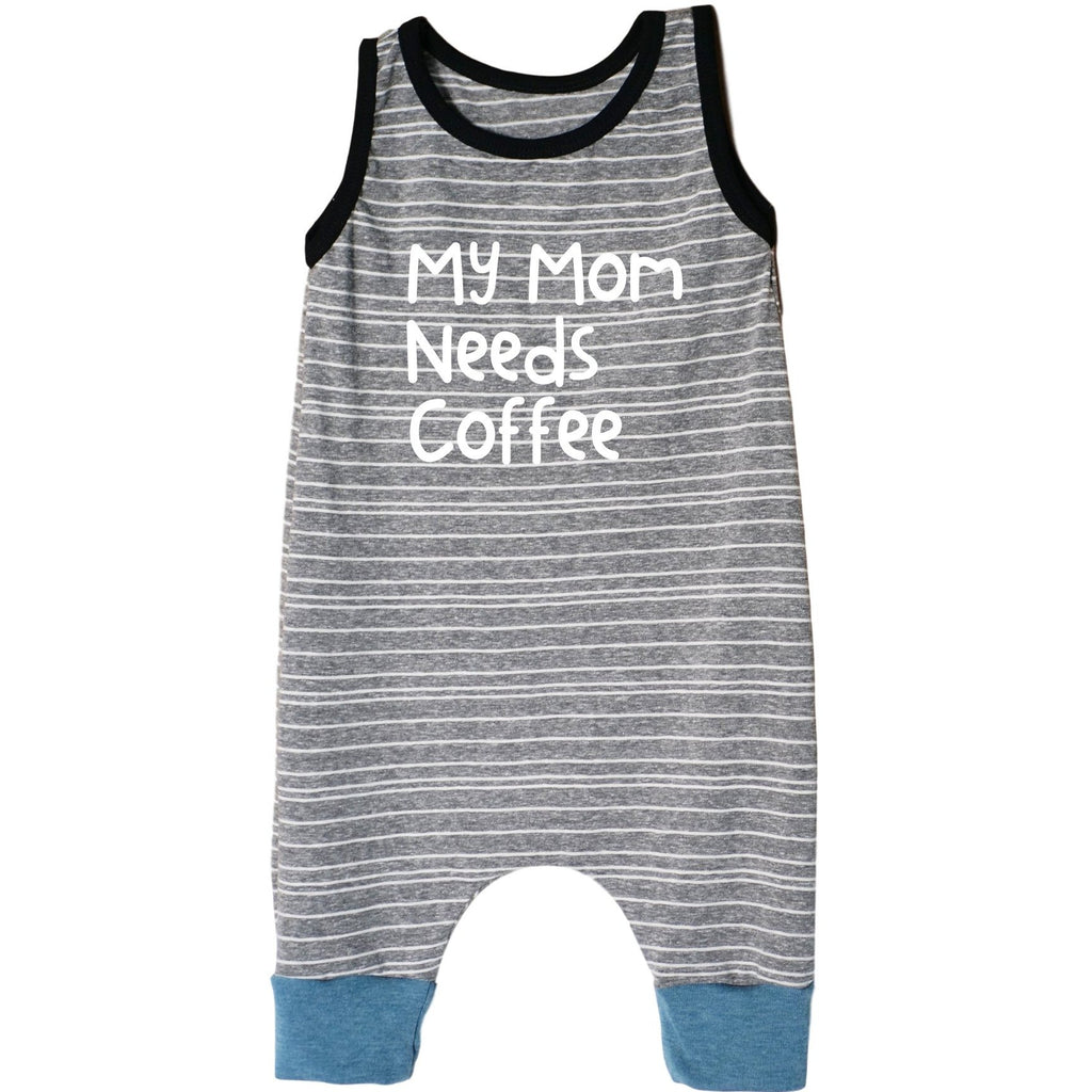 My Mom Needs Coffee Tank Shorts Romper