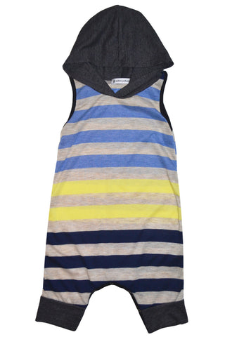 Multi-Striped Basic Hooded Tank Romper