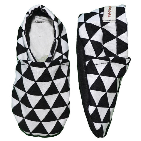 Black and White Geometric Booties