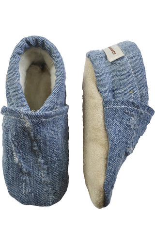 Upcycled Blue Denim Booties