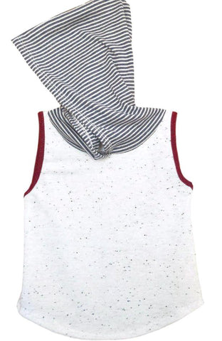 White Heritage Tank Hooded Tee