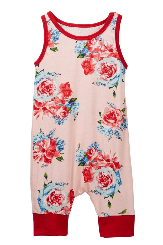 Copy of Ivory Floral Tank Romper