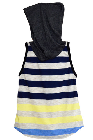 child striped hooded tee | infant striped hooded tee