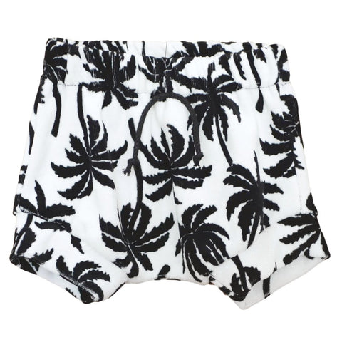 Palm Tree Velour Athletic Shortie