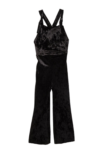 Girls Velvet Overall Jumpsuit