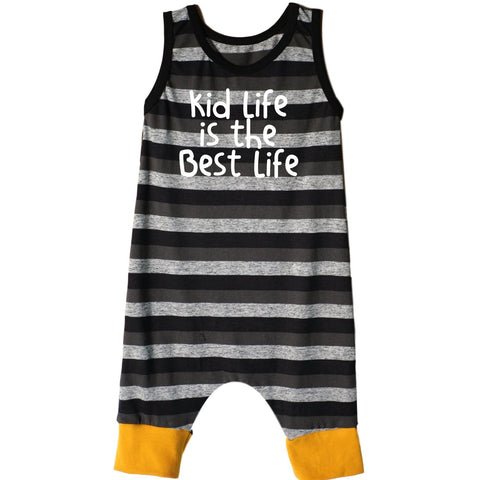 Kid Life is the Best life Tank Shorts Romper