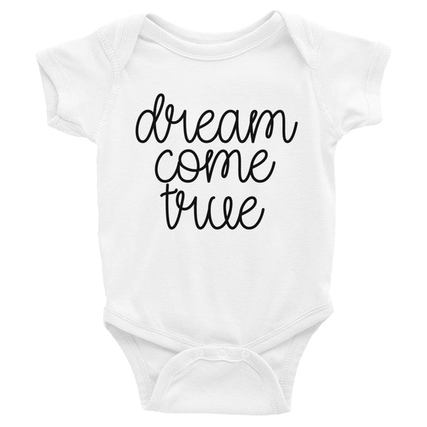 Dream Come True Gender Neutral Infant Bodysuit, 2 color options