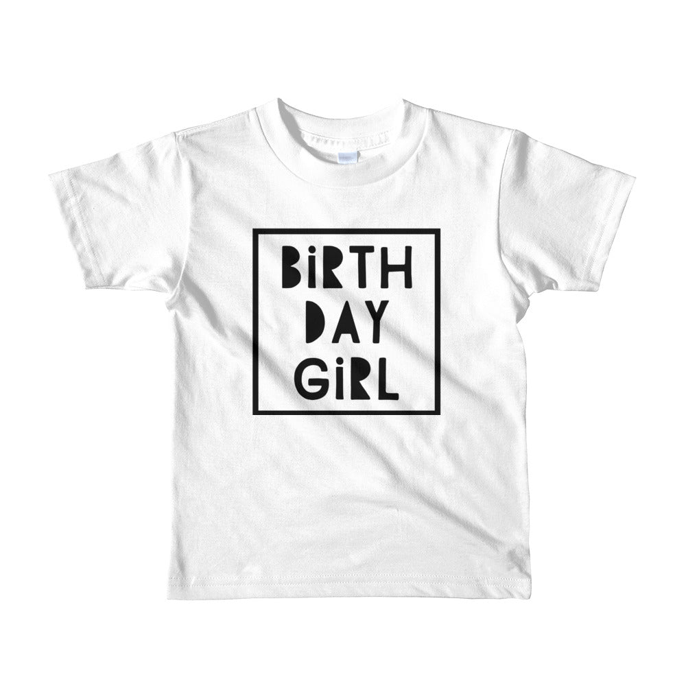 Girls Birthday Tee- 3 color options