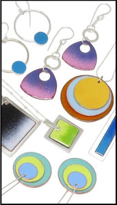 Sifted Glass Enamel Jewelry