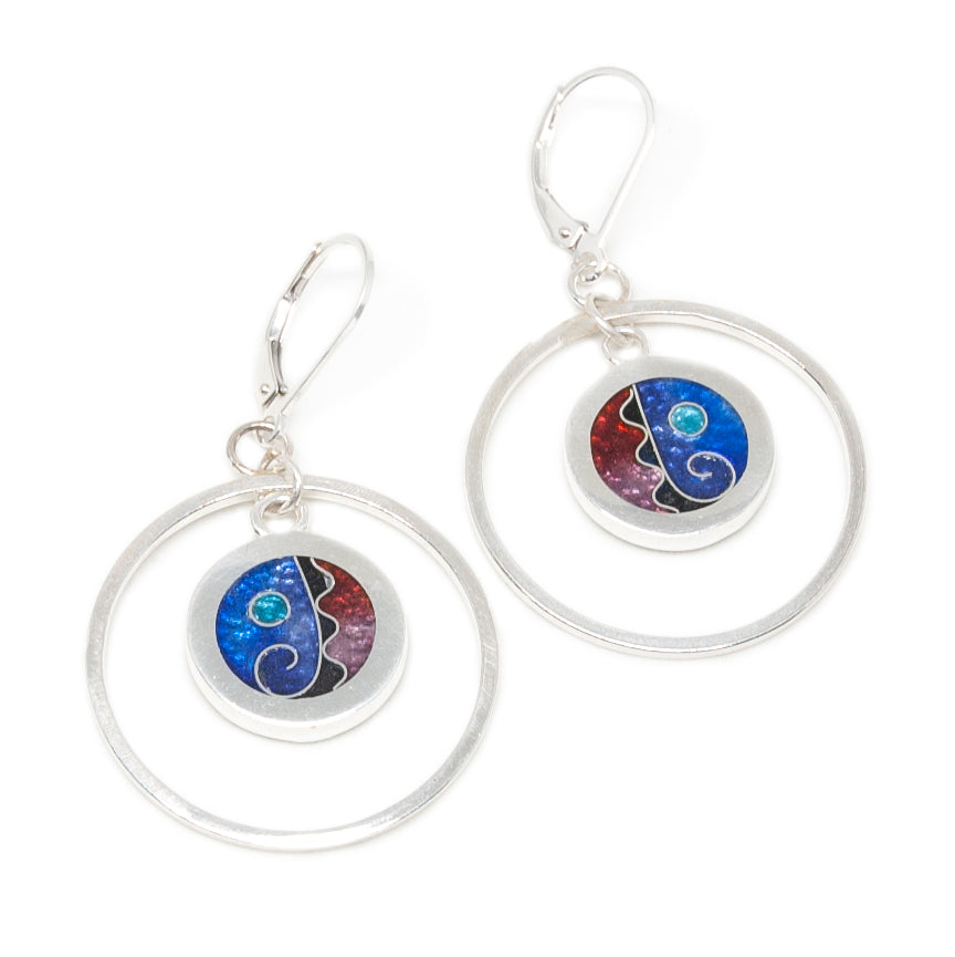 Hoop Earrings Galaxy